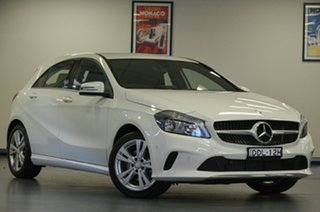 2016 Mercedes-Benz A-Class W176 807MY A180 D-CT White 7 Speed Sports Automatic Dual Clutch Hatchback.