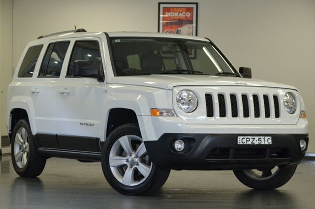 Used Jeep Patriot MK MY14 Limited, 2013 Jeep Patriot MK MY14 Limited White 6 Speed Sports Automatic Wagon