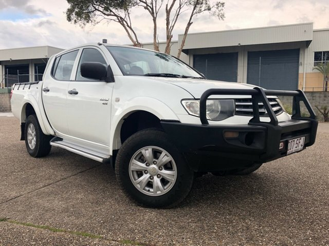 Used Mitsubishi Triton MN MY12 GLX (4x4), 2012 Mitsubishi Triton MN MY12 GLX (4x4) White 5 Speed Manual 4x4 Double Cab Utility