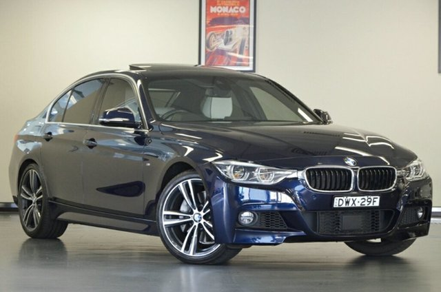 Used BMW 3 Series F30 LCI 340i M Sport, 2015 BMW 3 Series F30 LCI 340i M Sport Blue 8 Speed Sports Automatic Sedan