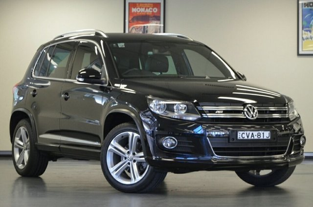 Used Volkswagen Tiguan 5N MY15 155TSI DSG 4MOTION R-Line, 2014 Volkswagen Tiguan 5N MY15 155TSI DSG 4MOTION R-Line Black 7 Speed Sports Automatic Dual Clutch