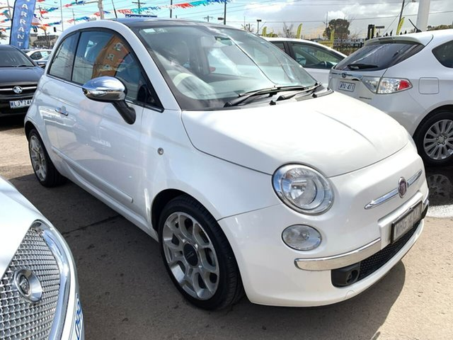 Used Fiat 500 Series 1 Lounge Dualogic, 2008 Fiat 500 Series 1 Lounge Dualogic White 5 Speed Sports Automatic Single Clutch Hatchback