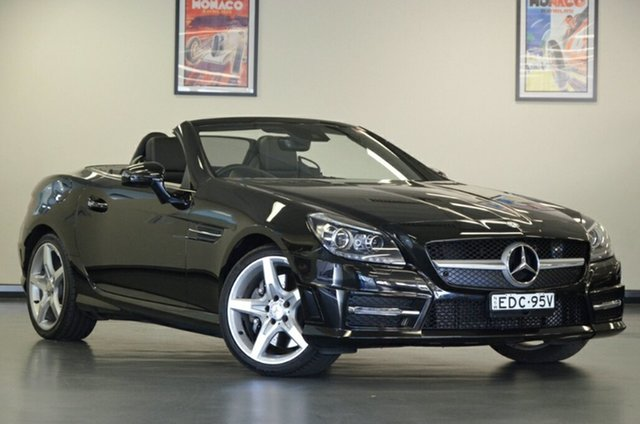 Used Mercedes-Benz SLK-Class R172 SLK250 7G-Tronic +, 2014 Mercedes-Benz SLK-Class R172 SLK250 7G-Tronic + Black 7 Speed Sports Automatic Roadster