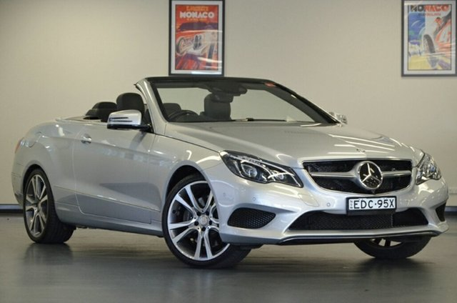 Used Mercedes-Benz E-Class A207 805MY E400 7G-Tronic +, 2015 Mercedes-Benz E-Class A207 805MY E400 7G-Tronic + Silver 7 Speed Sports Automatic Cabriolet