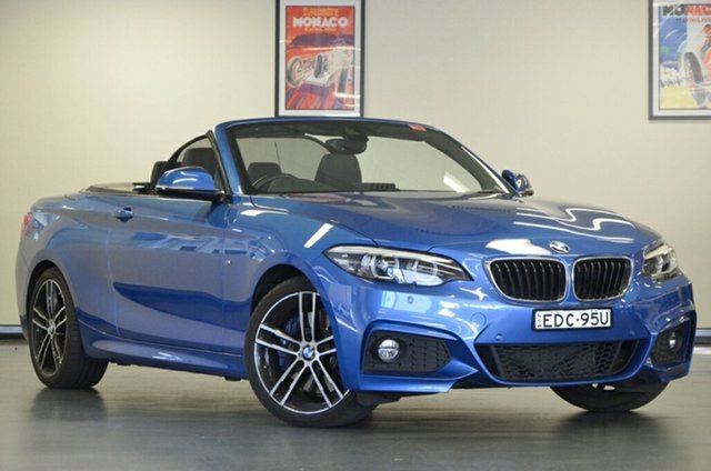 Used BMW 2 Series F23 LCI 230i M Sport, 2017 BMW 2 Series F23 LCI 230i M Sport Blue 8 Speed Sports Automatic Convertible