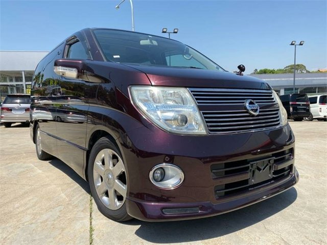 Used Nissan Elgrand E51 Highway Star, 2010 Nissan Elgrand E51 Highway Star Red Purple Automatic Wagon