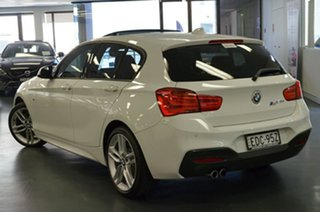 2016 BMW 1 Series F20 LCI 125i M Sport White 8 Speed Sports Automatic Hatchback.