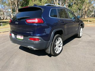 2015 Jeep Cherokee KL MY15 Limited (4x4) Blue 9 Speed Automatic Wagon.