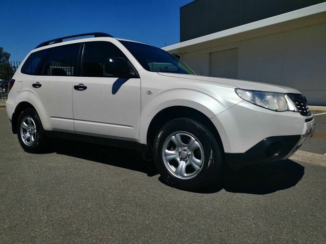 Used Subaru Forester MY09 X, 2009 Subaru Forester MY09 X White 4 Speed Auto Elec Sportshift Wagon