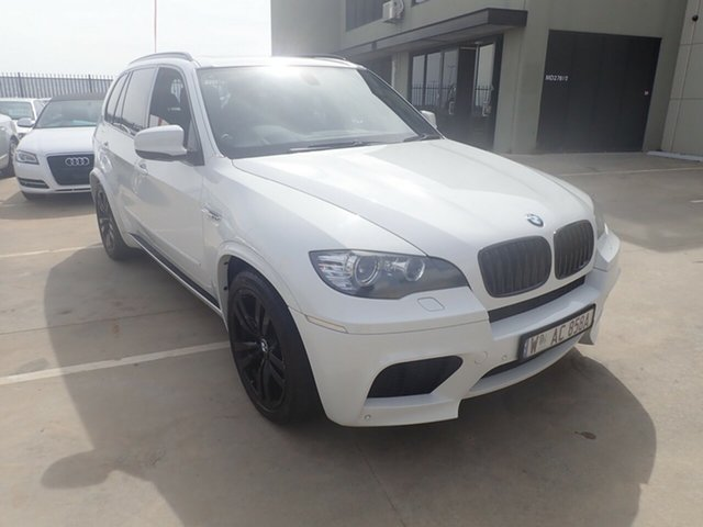 Used BMW X5 M E70 MY11 Steptronic, 2010 BMW X5 M E70 MY11 Steptronic White Satin 6 Speed Sports Automatic Wagon