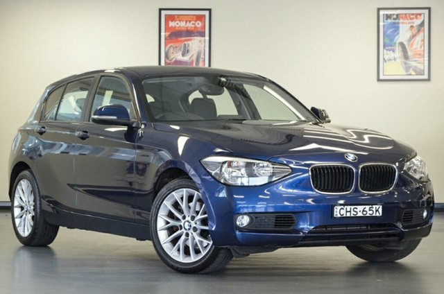 Used BMW 118i F20 118i, 2012 BMW 118i F20 118i Blue 8 Speed Sports Automatic Hatchback