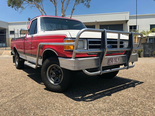 Used Ford F150  XLT (4x4), 1989 Ford F150 XLT (4x4) Red 3 Speed Automatic 4x4 Utility