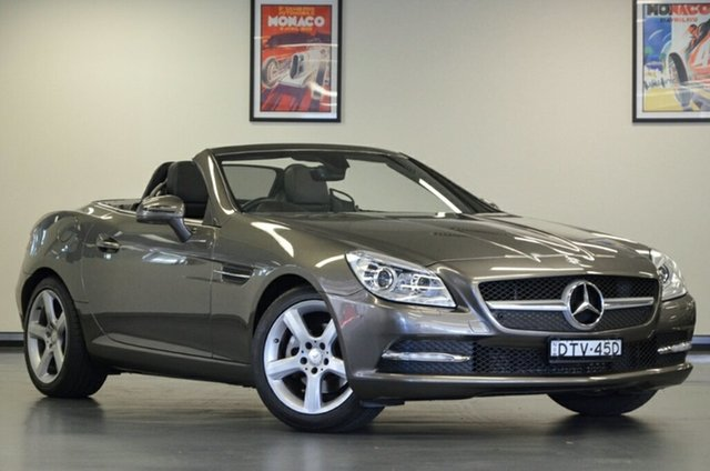 Used Mercedes-Benz SLK-Class R172 SLK200 BlueEFFICIENCY 7G-Tronic +, 2012 Mercedes-Benz SLK-Class R172 SLK200 BlueEFFICIENCY 7G-Tronic + Grey 7 Speed Sports Automatic