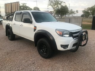 2010 Ford Ranger PK XL Crew Cab 4x2 Hi-Rider White 5 Speed Automatic Utility