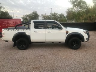 2010 Ford Ranger PK XL Crew Cab 4x2 Hi-Rider White 5 Speed Automatic Utility.