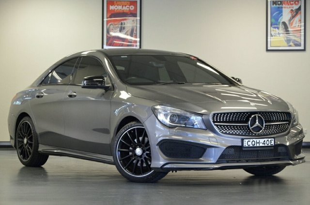 Used Mercedes-Benz CLA-Class C117 CLA200 DCT, 2013 Mercedes-Benz CLA-Class C117 CLA200 DCT Grey 7 Speed Sports Automatic Dual Clutch Coupe