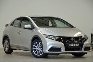 2014 Honda Civic 9th Gen Ser II MY13 VTi Silver 5 Speed Sports Automatic Sedan.