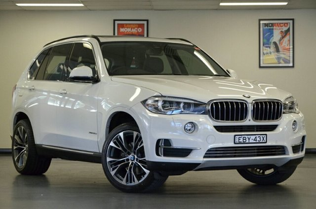 Used BMW X5 F15 xDrive30d, 2013 BMW X5 F15 xDrive30d Alpine White 8 Speed Automatic Wagon