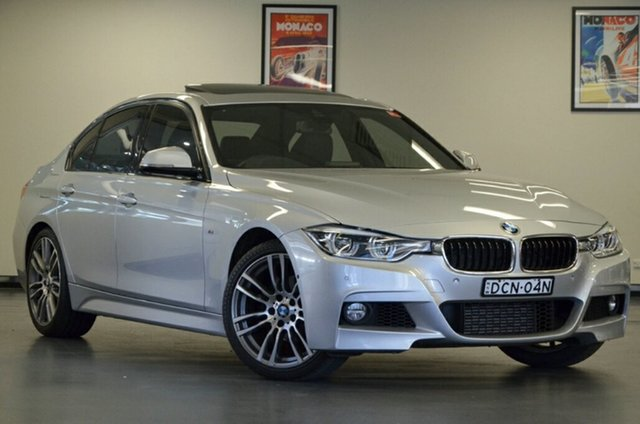 Used BMW 3 Series F30 LCI 318i M Sport, 2015 BMW 3 Series F30 LCI 318i M Sport Silver 8 Speed Sports Automatic Sedan