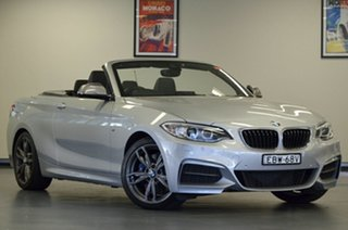 2017 BMW 2 Series F23 M240I Glacier Silver 8 Speed Sports Automatic Convertible.
