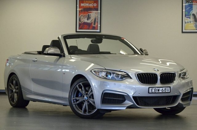 Used BMW 2 Series F23 M240I, 2017 BMW 2 Series F23 M240I Glacier Silver 8 Speed Sports Automatic Convertible