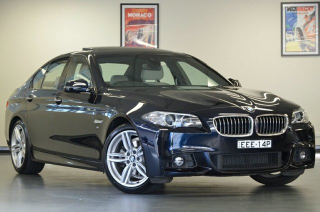 Used BMW 5 Series F10 LCI 520d Steptronic M Sport, 2016 BMW 5 Series F10 LCI 520d Steptronic M Sport Black 8 Speed Sports Automatic Sedan