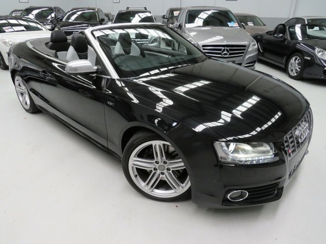 Used Audi S5 8T MY10 S Tronic Quattro, 2010 Audi S5 8T MY10 S Tronic Quattro Black Crystal 7 Speed Sports Automatic Dual Clutch Cabriolet