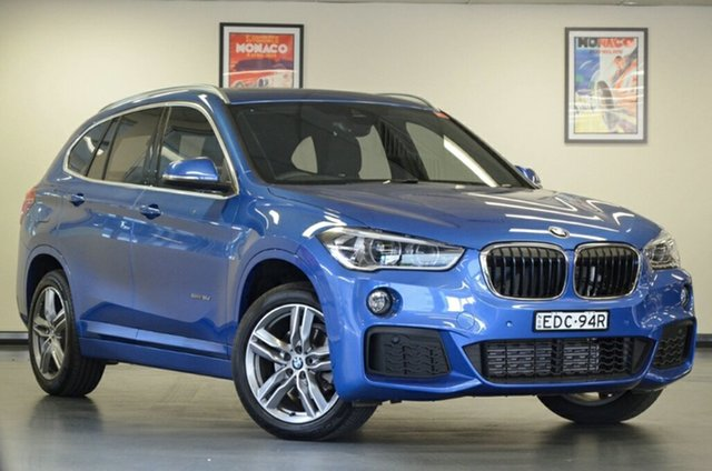 Used BMW X1 F48 sDrive18d Steptronic, 2017 BMW X1 F48 sDrive18d Steptronic Estoril Blue 8 Speed Sports Automatic Wagon