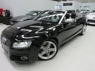 2010 Audi S5 8T MY10 S Tronic Quattro Black Crystal 7 Speed Sports Automatic Dual Clutch Cabriolet.