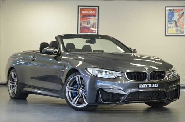 Used BMW M4 F83 M-DCT, 2014 BMW M4 F83 M-DCT Grey 7 Speed Sports Automatic Dual Clutch Convertible