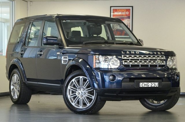 Used Land Rover Discovery 4 Series 4 MY12 HSE CommandShift Luxury, 2012 Land Rover Discovery 4 Series 4 MY12 HSE CommandShift Luxury Blue 6 Speed Sports Automatic