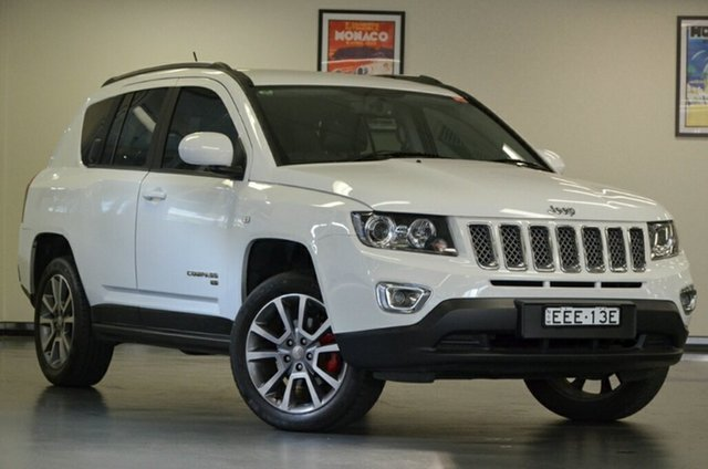 Used Jeep Compass MK MY14 Limited, 2013 Jeep Compass MK MY14 Limited White 6 Speed Sports Automatic Wagon