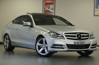 2012 Mercedes-Benz C-Class C204 C250 BlueEFFICIENCY 7G-Tronic + Silver 7 Speed Sports Automatic.