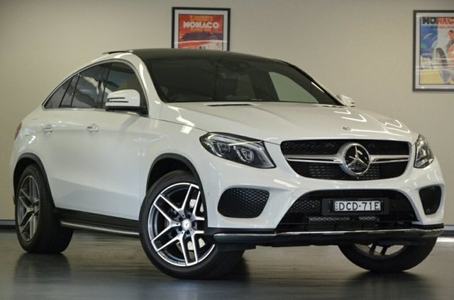 Used Mercedes-Benz GLE-Class C292 GLE350 d Coupe 9G-Tronic 4MATIC, 2015 Mercedes-Benz GLE-Class C292 GLE350 d Coupe 9G-Tronic 4MATIC White 9 Speed Sports Automatic