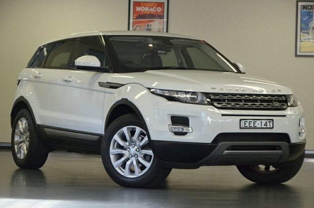 Used Land Rover Range Rover Evoque L538 MY15 SD4 Pure Tech, 2015 Land Rover Range Rover Evoque L538 MY15 SD4 Pure Tech White 9 Speed Sports Automatic Wagon