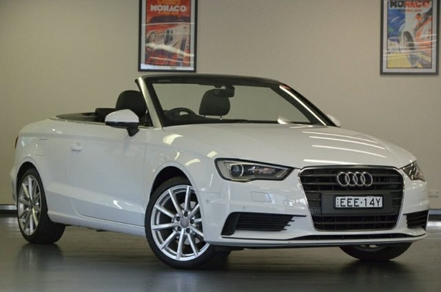 Used Audi A3 8V MY16 Attraction S Tronic, 2016 Audi A3 8V MY16 Attraction S Tronic White 7 Speed Sports Automatic Dual Clutch Cabriolet
