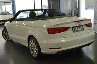 2016 Audi A3 8V MY16 Attraction S Tronic White 7 Speed Sports Automatic Dual Clutch Cabriolet.