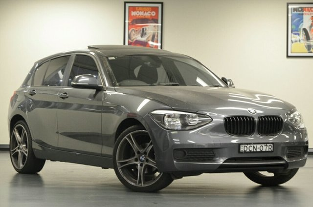 Used BMW 1 Series F20 MY0713 116i Steptronic, 2014 BMW 1 Series F20 MY0713 116i Steptronic Grey 8 Speed Sports Automatic Hatchback