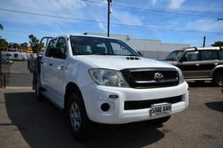 2008 Toyota Hilux KUN26R 07 Upgrade SR (4x4) White 5 Speed Manual Dual Cab Chassis.