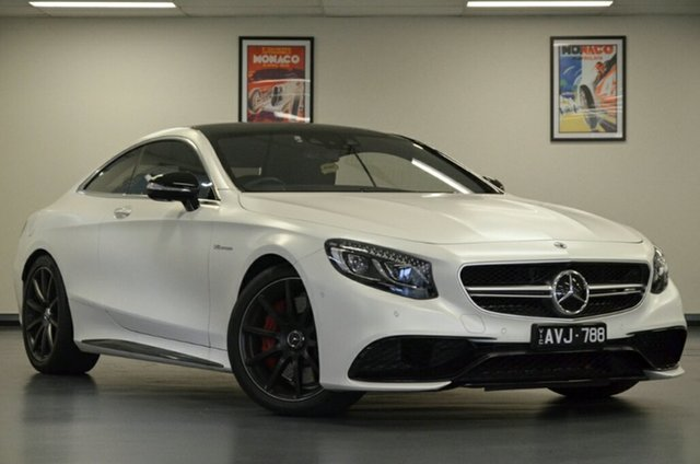 Used Mercedes-Benz S-Class C217 809MY S63 AMG SPEEDSHIFT MCT, 2018 Mercedes-Benz S-Class C217 809MY S63 AMG SPEEDSHIFT MCT White 9 Speed Sports Automatic Coupe