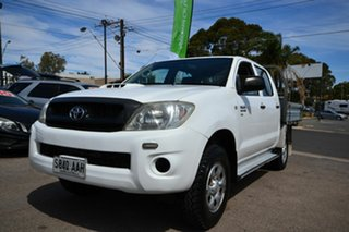 2008 Toyota Hilux KUN26R 07 Upgrade SR (4x4) White 5 Speed Manual Dual Cab Chassis