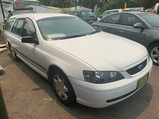 2003 Ford Falcon BA XT White 4 Speed Automatic Wagon.