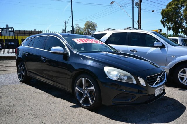 Used Volvo V60 F MY12 T5 R-Design, 2011 Volvo V60 F MY12 T5 R-Design Black 6 Speed Automatic Wagon