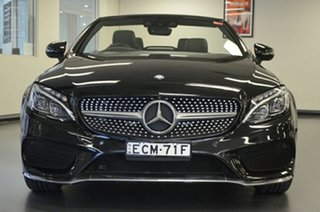 2016 Mercedes-Benz C-Class A205 C200 9G-Tronic Black 9 Speed Sports Automatic Cabriolet