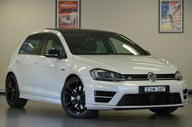 Used Volkswagen Golf VII MY16 R DSG 4MOTION Wolfsburg Edition, 2015 Volkswagen Golf VII MY16 R DSG 4MOTION Wolfsburg Edition Oryx White Pearl 6 Speed