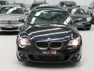 2005 BMW 5 Series E60 525i Steptronic M Sport Dark Blue 6 Speed Sports Automatic Sedan.