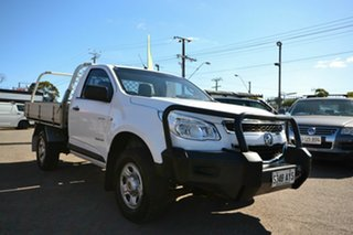 2013 Holden Colorado RG MY14 DX (4x2) White 6 Speed Manual Cab Chassis