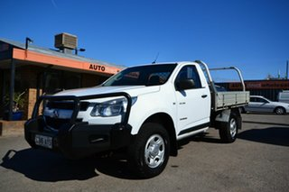 2013 Holden Colorado RG MY14 DX (4x2) White 6 Speed Manual Cab Chassis.