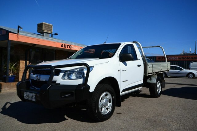 Used Holden Colorado RG MY14 DX (4x2), 2013 Holden Colorado RG MY14 DX (4x2) White 6 Speed Manual Cab Chassis