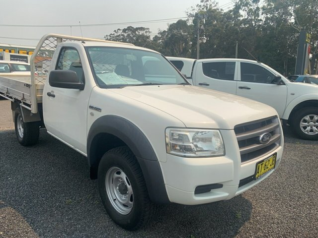 Used Ford Ranger PJ XL, 2007 Ford Ranger PJ XL White 5 Speed Manual Cab Chassis